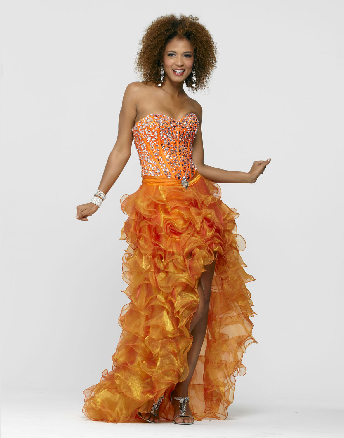 Clarisse Style 2130 Outrageous Orange Prom Gown at Sears.com